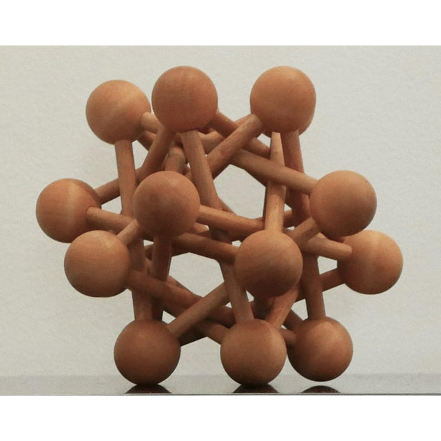 Abstract Mid-Century Wood Atomic Model For Sale - Image 3 of 6