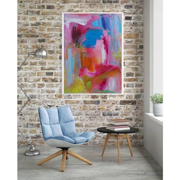"""Trixie Pitts Large Abstract Oil Painting by Trixie Pitts """"Florida Feeling"""" For Sale - Image 4 of 10"""