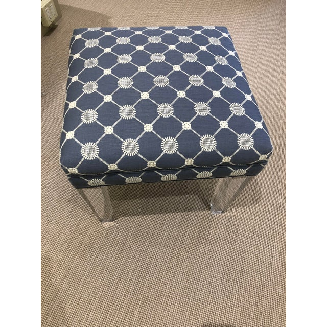 Early 21st Century Vintage Transitional Ottoman For Sale - Image 4 of 7