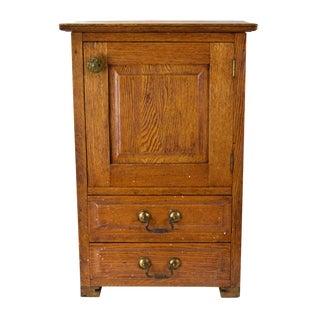 Late 19th Century Antique Golden Oak Storage Cabinet For Sale