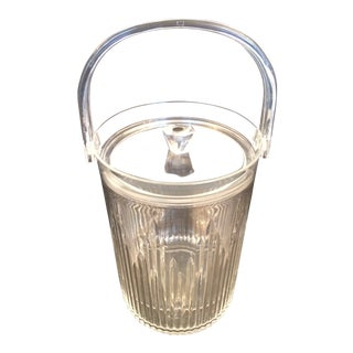 Mid Century Lucite Faceted Ice Bucket For Sale