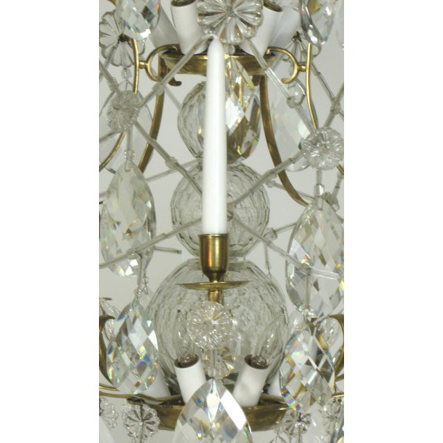 Swedish 18th Century Rococo Chandelier For Sale - Image 4 of 6