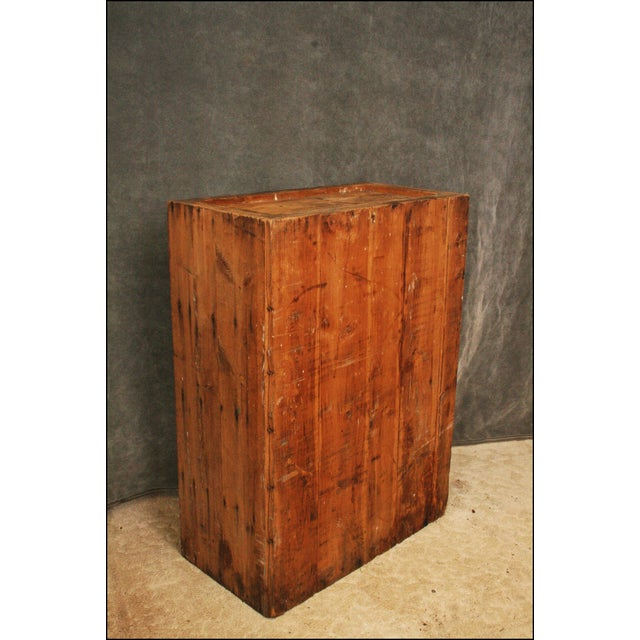 Brown Vintage Industrial Wood Bookcase made from Underwood Typewriter Crates For Sale - Image 8 of 11