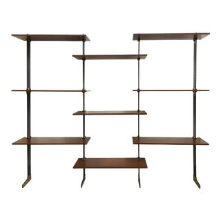 Wall Bookcase by Ignazio Gardella for Misura Emme For Sale