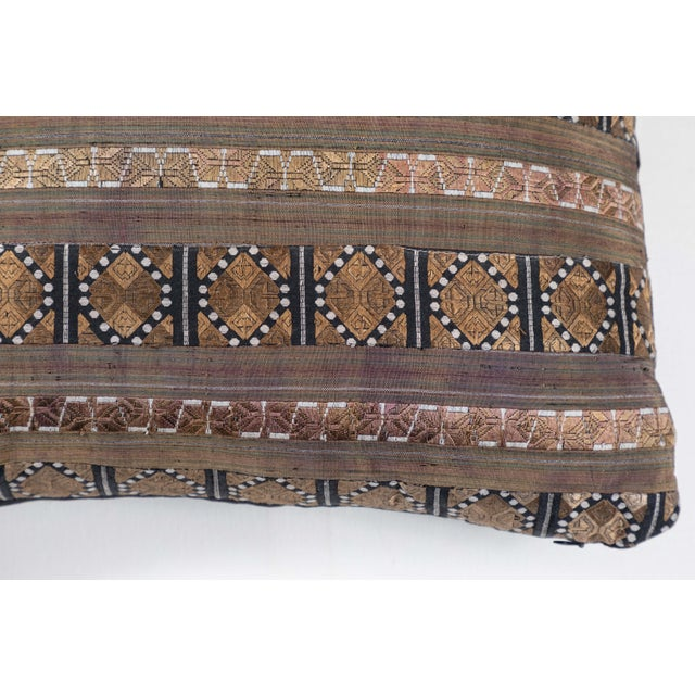 Chinese Silk Ribbon Pillow For Sale - Image 4 of 6