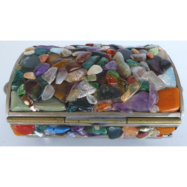 Stone Encrusted Domed Trinket Box - Image 5 of 7