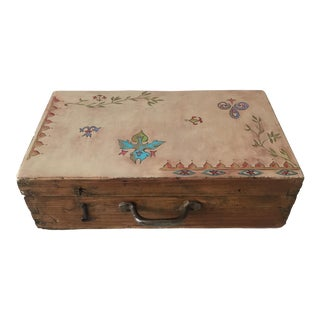 Medieval Motif Painted Box For Sale
