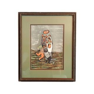 Vintage Graciela Rodo Boulanger Lithograph Print For Sale