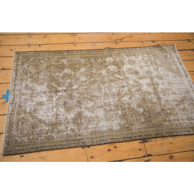 "Vintage Distressed Fragment Malayer Rug - 3'1"" X 5'1"" For Sale - Image 9 of 11"