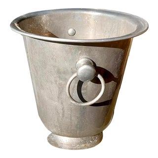 Aluminum Alloy Loop Handled Champagne Pedestal Bucket For Sale
