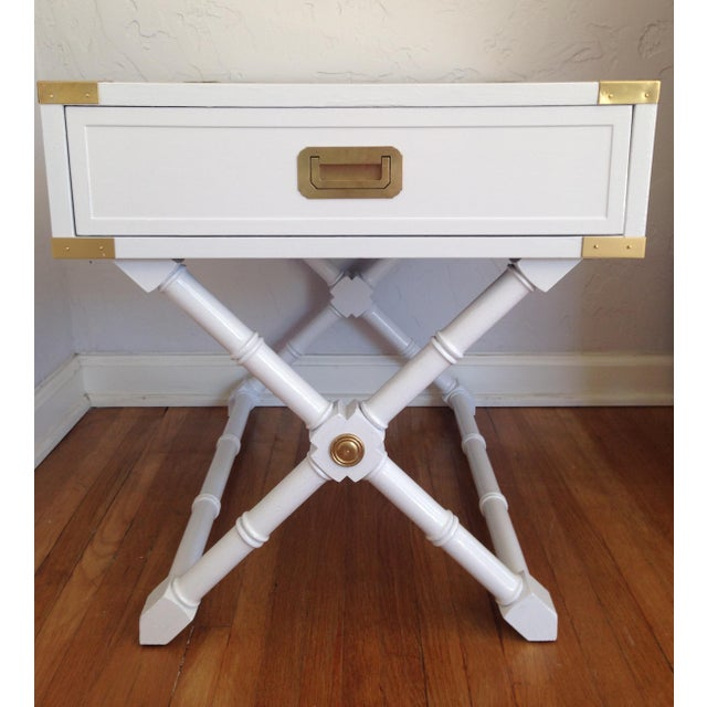 Hekman Campaign Nightstand or End Table - Image 2 of 7