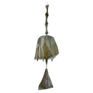 1965 Vintage Paolo Soleri Bronze Windbell For Sale