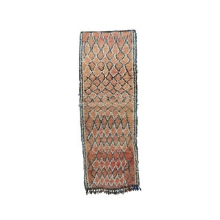 1970s Vintage Boujad Moroccan Rug - 3′ × 8′ For Sale