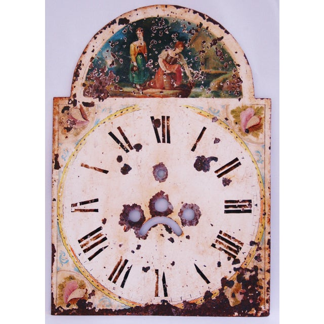Antique Hand-Painted English Clock Face - Image 2 of 8
