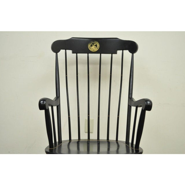 American Vintage Sigill College University Nichols & Stone Windsor Rocking Chair For Sale - Image 3 of 11
