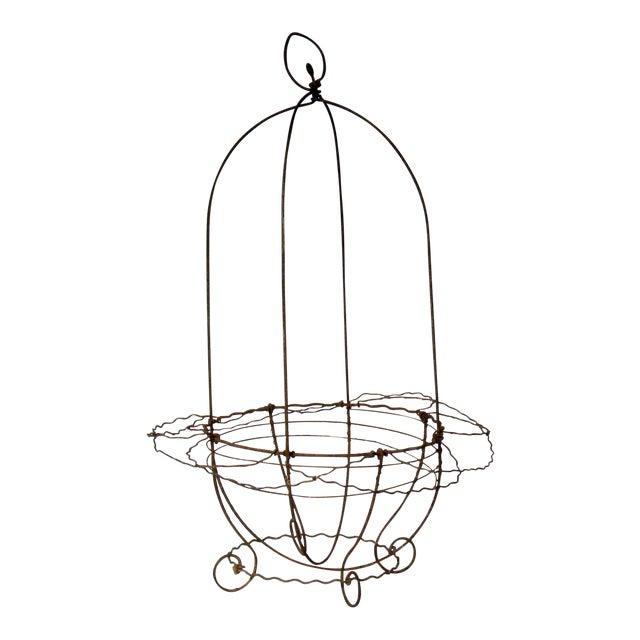 French Garden Hanging Basket Planter For Sale