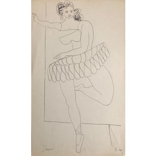 1960 Mid-Century Modern Ballet Dancer by James Bone For Sale