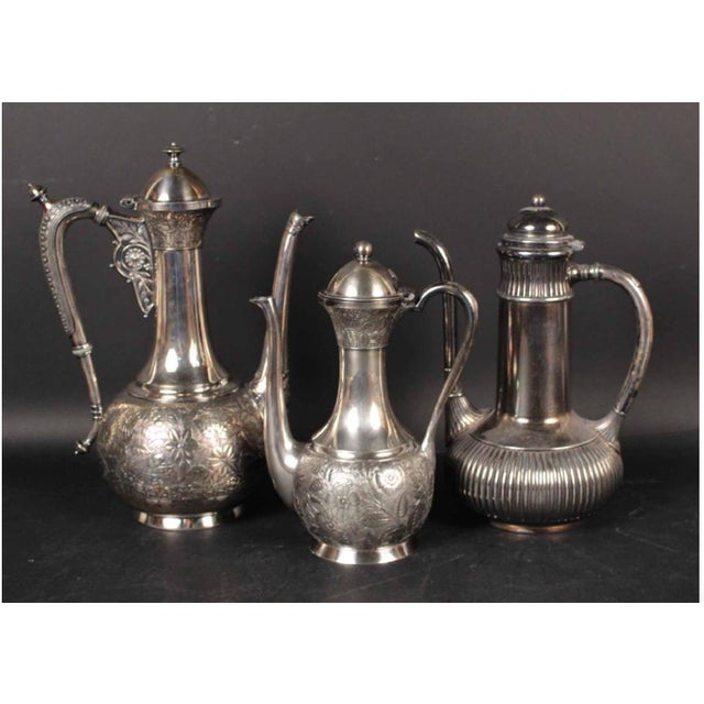 Keep one! Gift two! These elegant Meriden Moorish coffee pots are from the Aesthetic Movement, a literary and artistic...