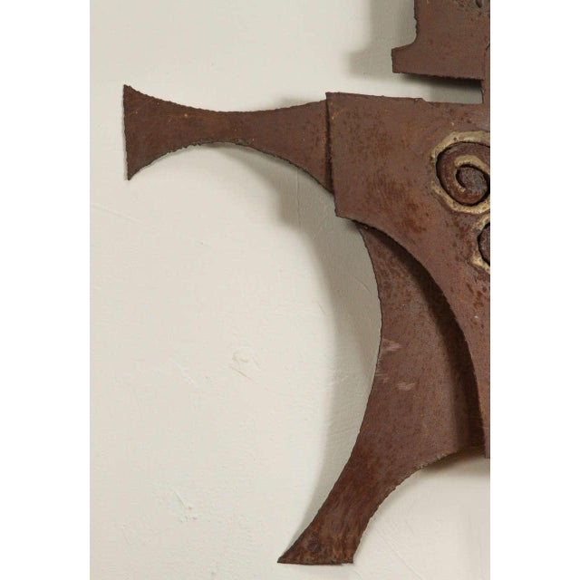Metal Gladiator Wall Sculpture For Sale In Los Angeles - Image 6 of 6