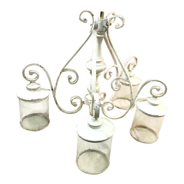 Quorum San Miguel 4-Light Persian White Chandelier For Sale