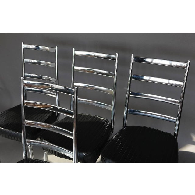 Set of Four Chromecraft Dining Chairs - Image 3 of 8