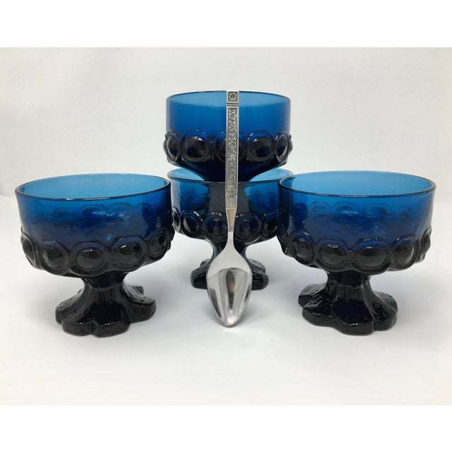 This set of four berry & dessert bowls is a rare find! The 3-dimensional ring-around-dome pattern along with the...
