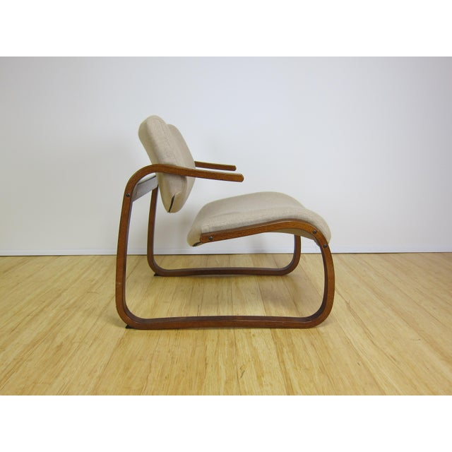 Oddvin Rykken Balance chair for Rykken & Co circa the 1970's. Stained bentwood beech frame in good original condition....