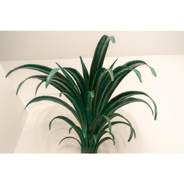 1970s Custom Palm Tree Form Wall Torcheres 9 Ft High - a Pair For Sale - Image 10 of 12