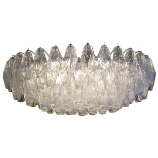 1950s Italian Carlo Scarpa for Venini Polyhedral Chandelier For Sale