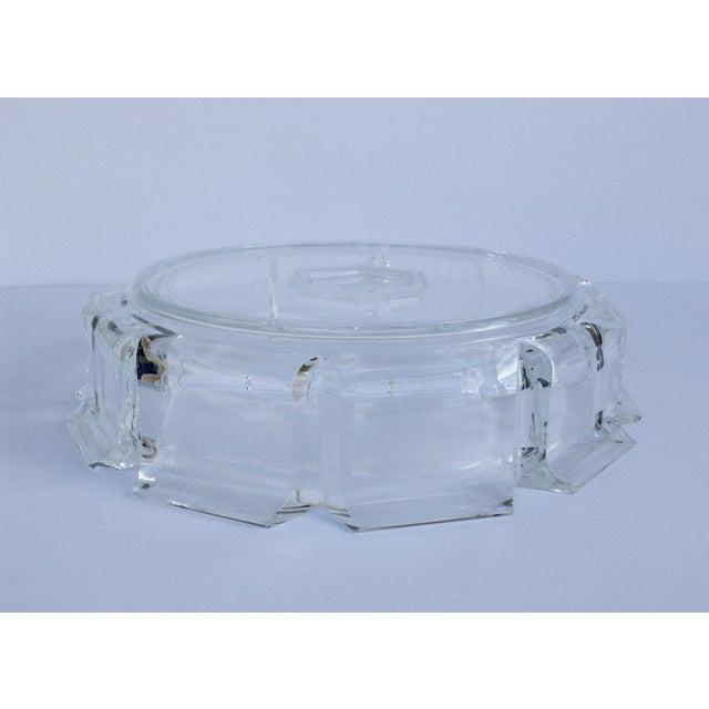 Transparent Modern Lucite Fluted Server Center Bowl For Sale - Image 8 of 11