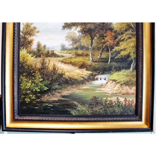 Large Country Stream Painting For Sale - Image 4 of 10