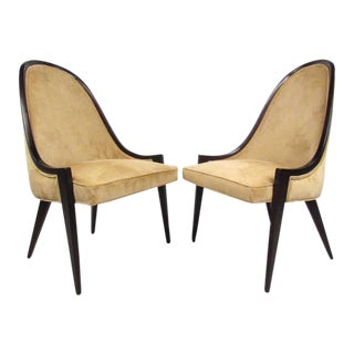 Harvey Probber Gondola Slipper Chairs - a Pair