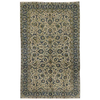 20th Century Persian Light Blue Yazd Rug - 6′6″ × 10′6″ For Sale