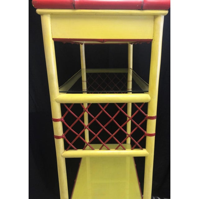 Palm Beach Chinoiserie Pagoda Display Cabinet For Sale In New York - Image 6 of 8