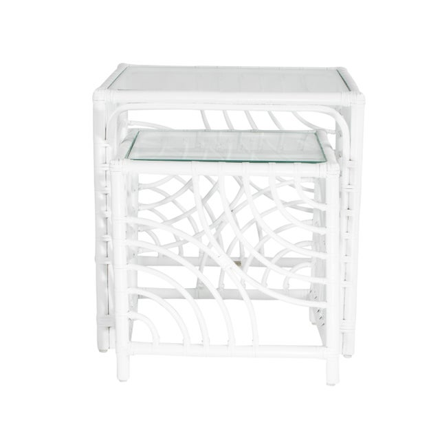 Not Yet Made - Made To Order Swirl Nesting Tables - White For Sale - Image 5 of 7