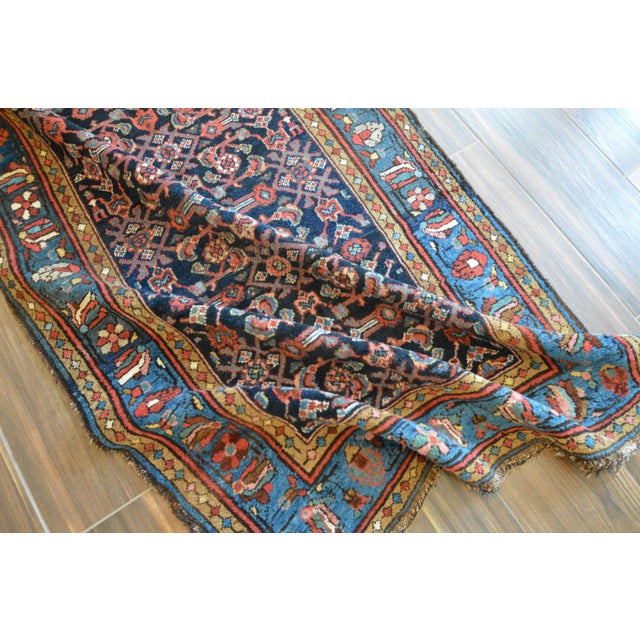 Antique Persian Hand Woven Runner- 3′10″ × 9′7″ - Image 7 of 11