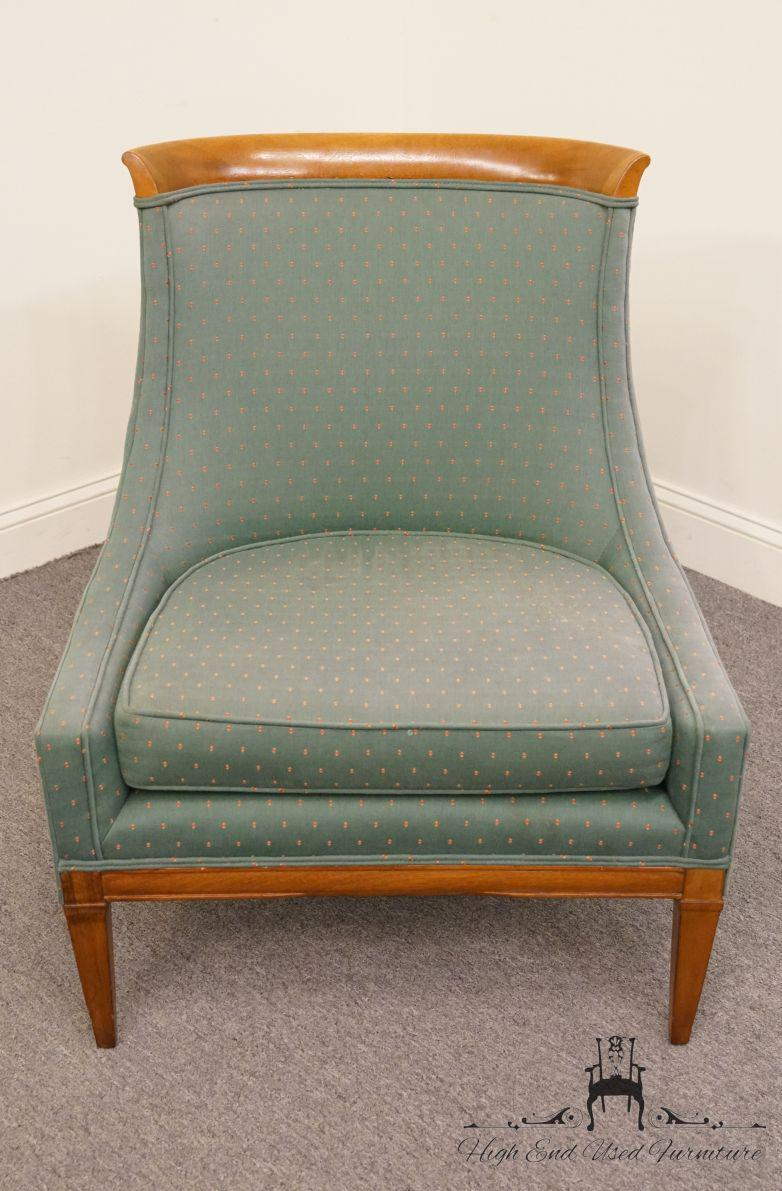 Mid Century Modern Green Upholstered Accent Chair Chairish