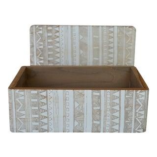 Pigeon & Poodle Medium Akita Teak Box For Sale