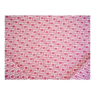 Brunschwig & Fils Mira Print Petal Mosaic Linen Upholstery Fabric - 5 7/8 Yards For Sale