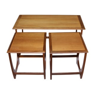 Danish Teak Nesting Coffee Table For Sale