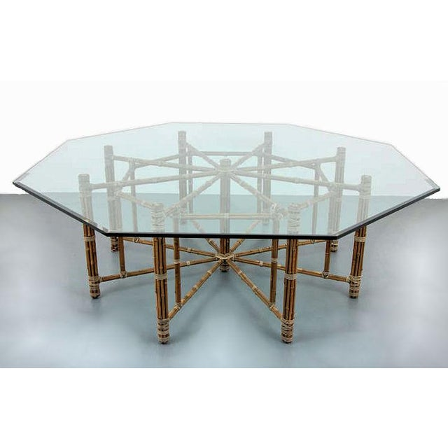 A beautifully maintained large dining table, designed by John McGuire. Symbolic orange framing (honoring the Golden Gate...