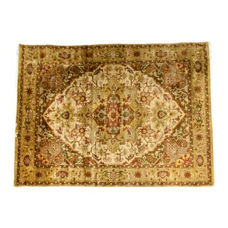 Mid-20th Century Hand Knotted Silk Area Rug For Sale