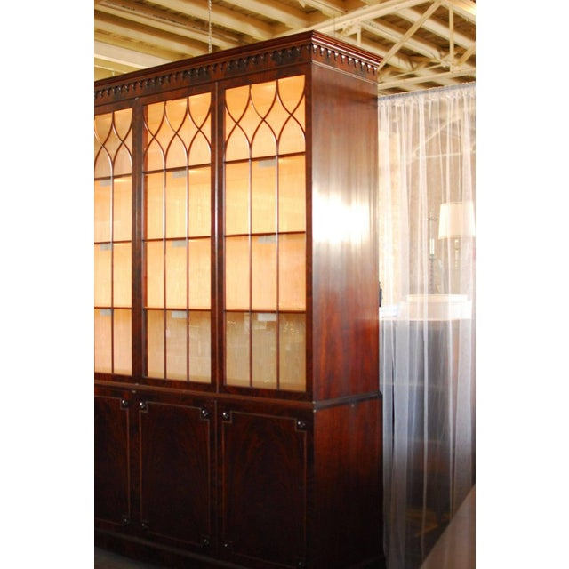 Brown Historical George III Mahogany Display Cabinet Bookcase For Sale - Image 8 of 10