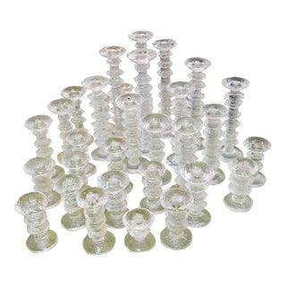 "Timo Sarpaneva (1948 - 2005) ""Festivo"" Candlesticks by Iitalla - Set of 31 For Sale"
