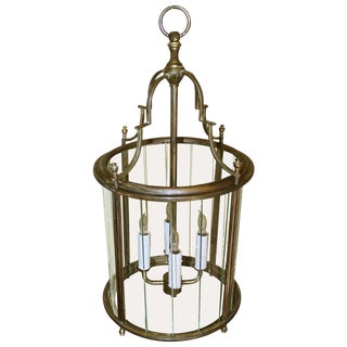 1950s Vintage Italian Neoclassical Style Brass Hall Lantern For Sale