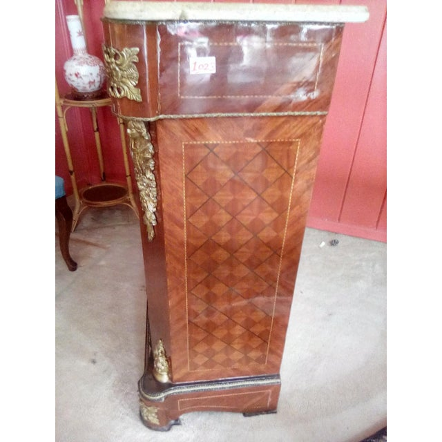 1960 French Server With Painted Floral Motif For Sale - Image 4 of 11