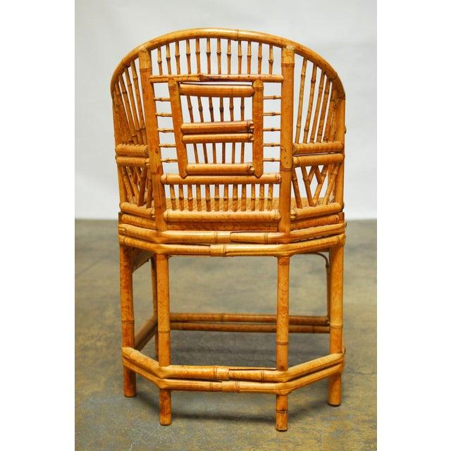 Bamboo Brighton Pavillion Style Armchair - Image 7 of 9