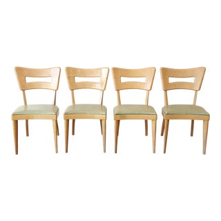 "Heywood Wakefield Mid-Century Modern ""Dogbone"" Dining Chairs - Set of 4 For Sale"