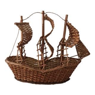 Vintage Boat Basket For Sale