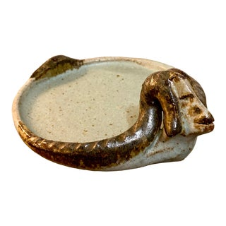 1960s Signed Studio Pottery Ram Dish/Catch All For Sale